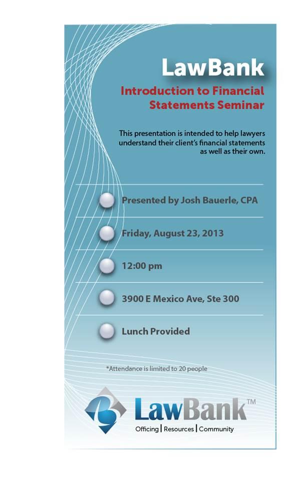 Accounting Seminar Invite